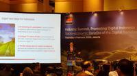 Head of Spectrum GSMA, Brett Tarnutzer, saat jumpa pers di Jakarta, Kamis (6/2/2020). (Liputan6.com/ Agustinus Mario Damar)