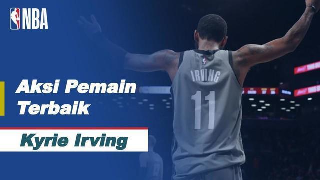 Berita video bintang Brooklyn Nets, Kyrie Irving, menciptakan 40 poin saat menghadapi Boston Celtics dan menjadi pemain terbaik NBA hari ini, Jumat (12/3/2021) WIB.
