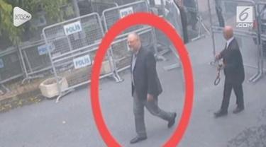 Usai dinyatakan tewas di dalam Kedutaan Saudi di Turki, kini televisi nasional Turki merilis foto-foto Khasshogi sebelum tewas di depan kedutaan.