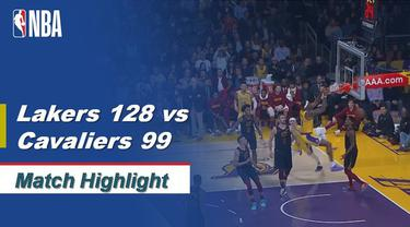Highlights NBA 2019-2020, LA Lakers Vs Cleveland Cavaliers 128-99