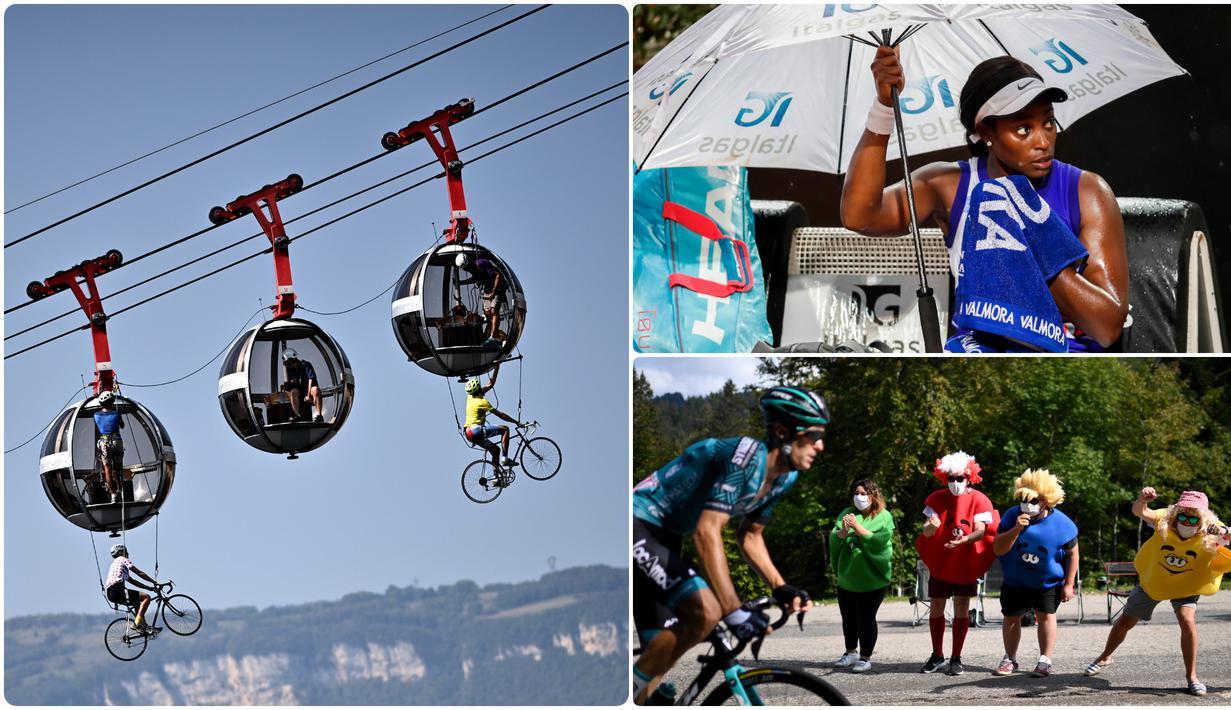 Berikut foto-foto unik di olahraga pilihan redaksi Bola.com pada 16 September 2020. (kolase foto AFP)