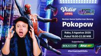 Nonton Game Bareng Pokopow: Spider-Man. (Sumber: Vidio)