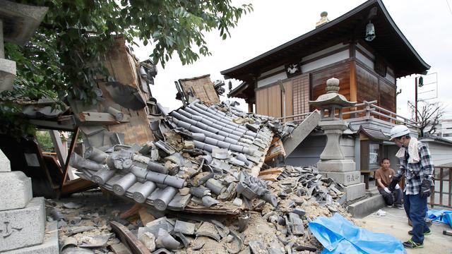 Dampak Kerusakan Akibat Gempa  Sr Di Osaka