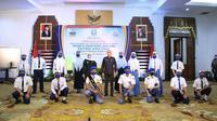 Pembukaan virtual masa pengenalan lingkungan sekolah (MPLS) peserta didik baru SMA/SMK Jawa Timur Tahun Pelajaran 2020/2021. (Foto: Liputan6.com/Dian Kurniawan)