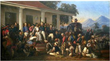 Penangkapan Pangeran Diponegoro versi Raden Saleh