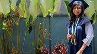 Kalyana Anjani Samardhya menjadi lulusan termuda iTB pada wisuda pertama tahun akademik 2018/2019. (dok. itb.ac.id/Dinny Mutiah)