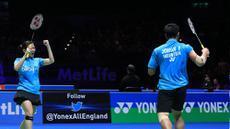 Pasangan ganda campuran Indonesia, Praveen Jordan dan Debby Susanto berhasil membuat kejutan dengan lolos ke babak final All England 2016 dan ini menjadi final pertama mereka di ajang prestisius itu. (PBSI/Nafielah)