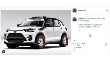 Julian Johan mengkreasikan modifikasi untuk Toyota Raize dengan gaya rally look (Jejelogy)