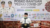 Wali Kota Bandung, Oded M. Danial meresmikan Posko Bantuan Peduli Covid-19 Kota Bandung di Pendopo Kota Bandung, Jln. Dalem Kaum, Senin (30/3/2020) lalu. (sumber foto : Humas Pemkot Bandung)