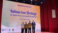 Perayaan dalam memperingati hari PBB pada Senin, 2 Desember 2019 di Perpusnas RI, Jakarta.