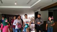 Artis Aldi Taher ikut mengambil bagian berlaga dalam Pilkada Sumatera Barat 2020. (Liputan6.com/ Novia Harlina)