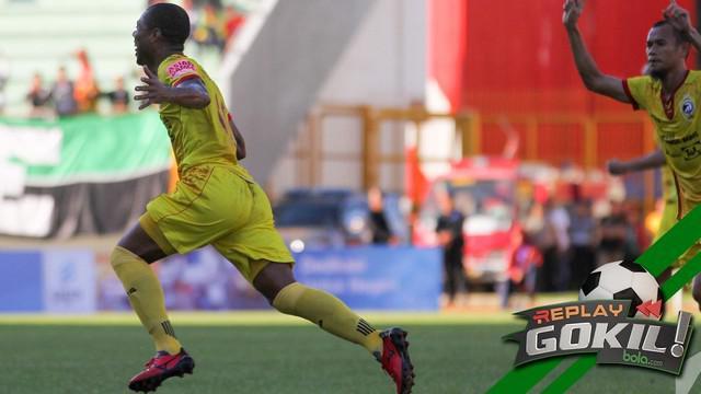Hilton Moreira berhasil mencetak gol indah pada laga melawan Madura United di TSC 2016.