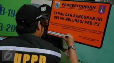 20151123-Tunggak PBB Hingga Ratusan Miliar, PT di Jakarta Utara Dipasang Plang-Jakarta