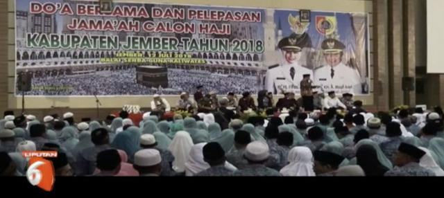 Sebanyak 1900 jamaah haji asal Jember, Jawa Timur, siap berangkat ke Makkah.