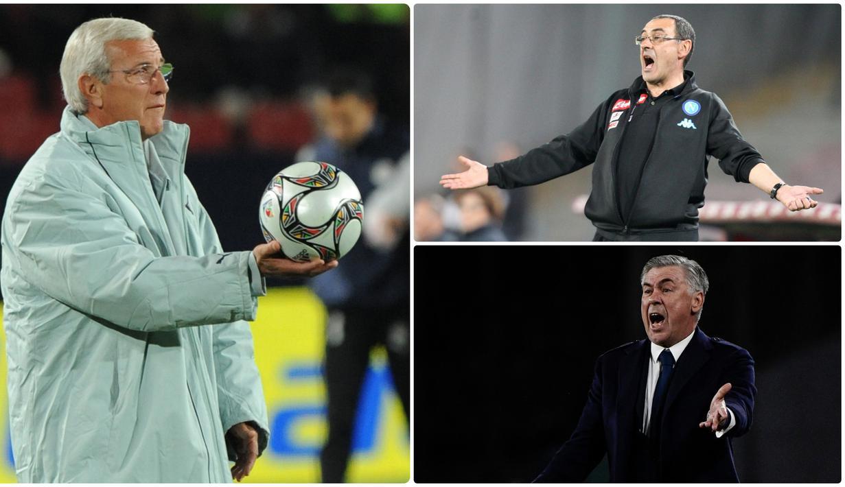 Pelatih Juventus, Maurizio Sarri, didiagnosis menderita pneumonia akibat kebiasaannya merokok, pelatih berumur 60 tahun itu diketahui bisa menghabiskan 60 batang rokok dalam sehari. Selain Sarri, berikut 5 pelatih hebat yang memiliki kebiasaan merokok. (Kolase foto AFP)