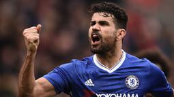 Diego Costa (66 juta euro) - Diego Costa dijual ke Atletico Madrid oleh Chelsea pada Januari 2018 dengan harga transfer 66 juta euro. (AFP/Oli Scarff)