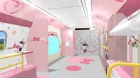 Seperti apa penampakan kereta api bertema Hello Kitty yang menggemaskan? Simak di sini selengkapnya. (Foto: instagram @grumpybunnyuk)