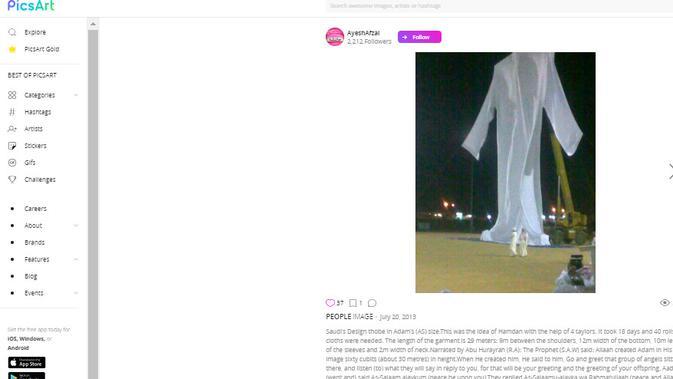 [Cek Fakta] Viral Foto Baju Nabi Adam, Faktanya? (Picsart.com)