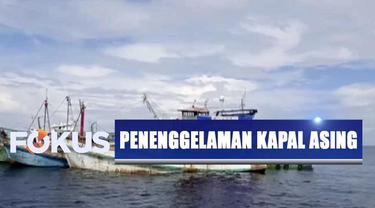 Penenggelaman kapal asing yang didominasi kapal ikan asal Vietnam ini dilakukan dengan cara mengisi kapal dengan air laut dan melubangi lambungnya.