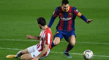 FOTO: Rumor Digaji 4 Juta Per Hari, Messi Cetak Gol Indah ke Gawang Bilbao