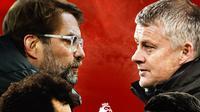 Premier League - Liverpool Vs Manchester United: Jurgen Klopp, Mohamed Salah Vs Ole Gunnar Solskjaer, Bruno Fernandes (Bola.com/Adreanus Titus)