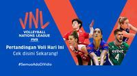 Jadwal dan Link Live Streaming Volleyball Nations League 2021 Pekan Ini di Vidio, 15-20 Juni. (Sumber : dok. vidio.com)