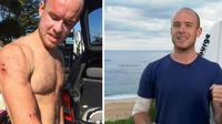 Seorang peselancar amatir telah lolos dari kematian dengan meninju tepat di wajah hiu yang menggigitnya.