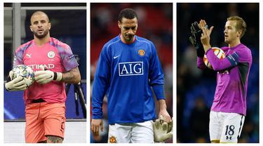Kumpulan foto-foto pemain top Liga Inggris yang mendadak menjadi penjaga gawang. (Foto: AFP & AP)