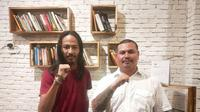 Rio Deno Putra dan Rudy Murod mantap maju di Pileg 2019 dengan tampilan yang antimainstrem (Liputan6.com / Nefri Inge)