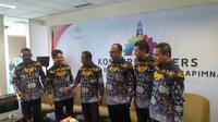 Himpunan Pengusaha Muda Indonesia (HIPMI) menggelar konferensi pers mengenai rencana Sidang Dewan Pleno II dan RAPIMNAS di kantor HIPMI, Bidakara II, Jakarta Selatan (2/3/2018).