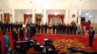 Presiden Jokowi melantik 6 duta besar RI (Liputan6.com/ Ahmad Romadoni)