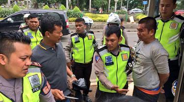 Polantas di Jalan Sudirman (Yusron Fahmi/Liputan6.com)