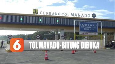 Jelang natal dan tahun baru, Tol Manado-Bitung beroperasi secara fungsional dengan gratis.