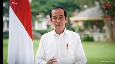 Presiden Jokowi menyampaikan nasihat dan sambutannya dalam perayaan HUT GMNI ke-67. (Istimewa)