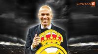 Banner Infografis Zinedine Zidane Kembali ke Real Madrid. (Liputan6.com/Triyasni)