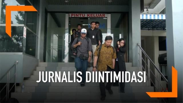 Wartawan korban intimidasi saat meliput kegiatan Malam Munajat 212 melaporkan dugaan tidak intimidasi dan kekerasan ke Polda Metro Jaya.