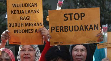 20161218-Buruh Migran Lakukan Aksi Damai di Car Free Day-Jakarta