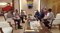 Pertemuan PSSI dan PT LIB dengan Kapolda Jateng, di Semarang, Senin (31/8/2020). (Istimewa/.Dokumen PSIS Semarang)