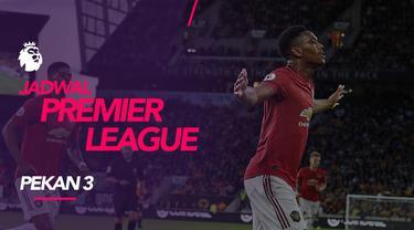 Berita video jadwal Premier League 2019-2020 pekan ke-5. Manchester United hadapi Leicester City di Old Trafford, Sabtu (14/9/2019).