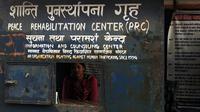 Tulisan kampanye anti-human trafficking di wilayah Kathmandu, Nepal