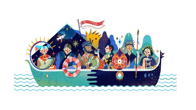 Google Doodle HUT ke-72 RI