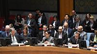 Menteri Luar Negeri RI Retno Marsudi (tengah) dalam Debat Terbuka Dewan Keamanan PBB (DK PBB) mengenai Situasi di Timur Tengah, di New York, 22 Januari 2019 (kredit Kemlu RI)