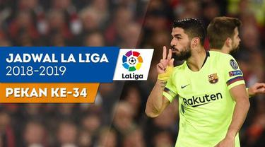Berita video jadwal La Liga 2018-2019 pekan ke-34. Barcelona bertandang ke markas Deportivo Alaves, Rabu (24/4/2019).