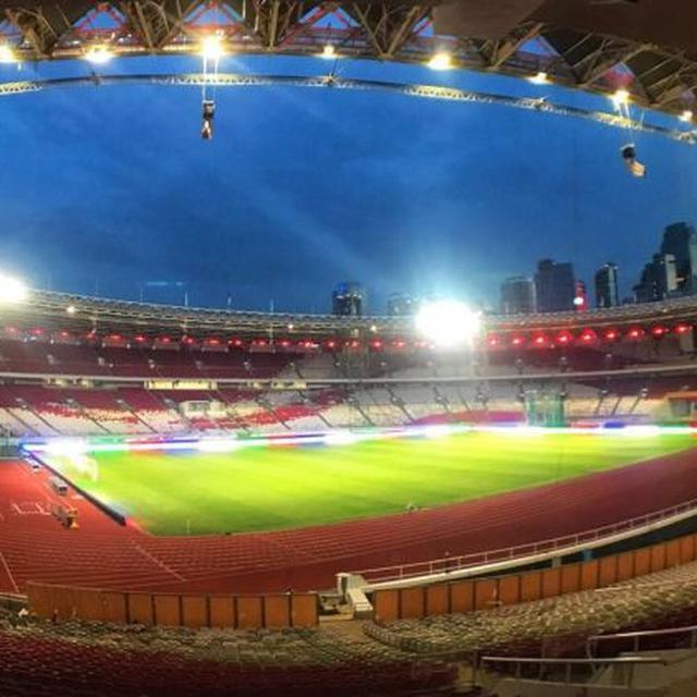 Dampingi Jokowi, Sejumlah Menteri Saksikan Peresmian Stadion GBK - Bisnis Liputan6.com