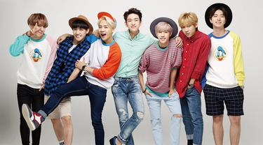 GOT7 sangat menghormati BigBang sebagai grup senior. Apalagi BamBam merupakan penggemar berat dari G-Dragon. (Foto: Soompi.com)