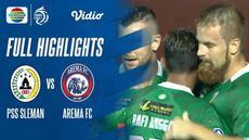 Berita video highlights laga pekan ketiga BRI Liga 1 2021/2022 antara PSS Sleman melawan Arema FC yang berakhir dengan skor 2-1, Minggu (19/9/2021) malam hari WIB.