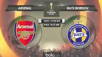 Liga Europa: Arsenal Vs BATE Borisov (Bola.com/Adreanus Titus)