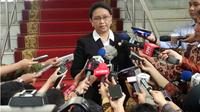 Menteri Luar Negeri Retno Marsudi menjelaskan mengenai kuota haji. (Liputan6.com/Ahmad Romadoni)