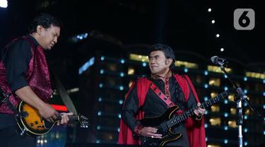 Rhoma Irama Hibur Warga di Konser Happy New Year Indonesia 2020
