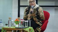 Menaker Ida Fauziyah dalam sambutan acara penyerahan SKKNI Bidang Perfilman di Innovation Room, Kemnaker, Jakarta, Selasa (7/7/2020).